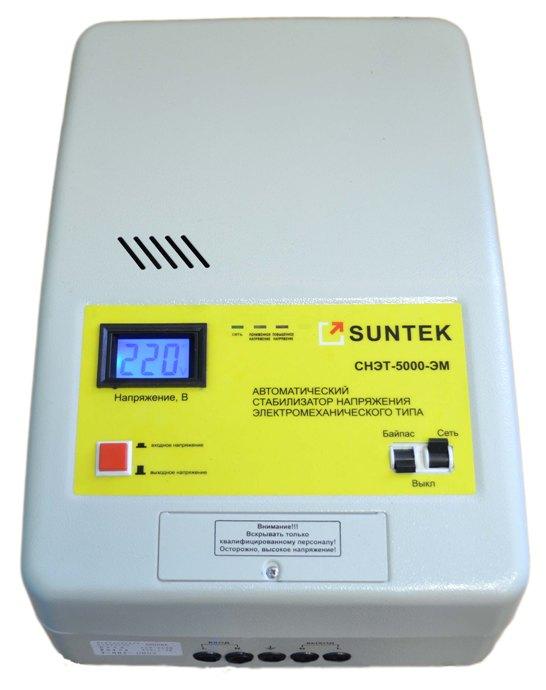 Передняя панель стабилизатора напряжения SUNTEK